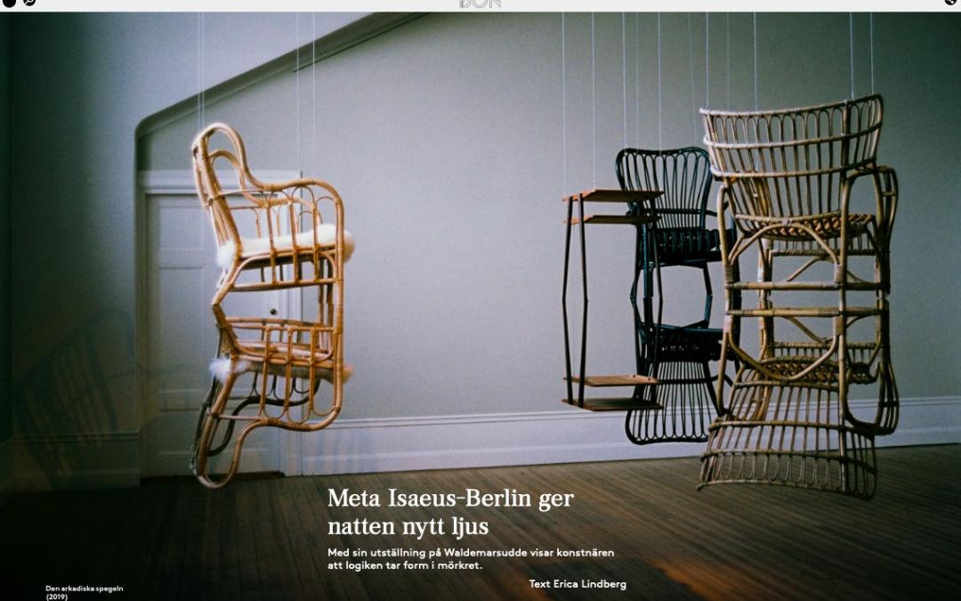 """Recension Bon: """"Meta Isaeus-Berlin ger natten nytt ljus"""""""