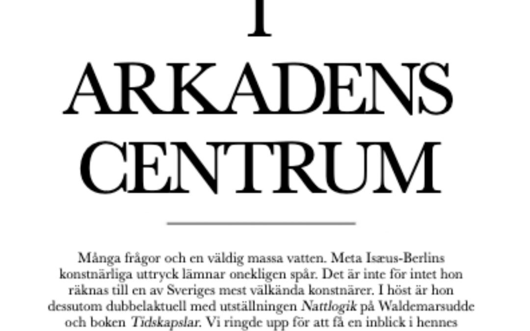 """Artikel i Underbara Kungsholmen: """"I arkadens centrum"""""""