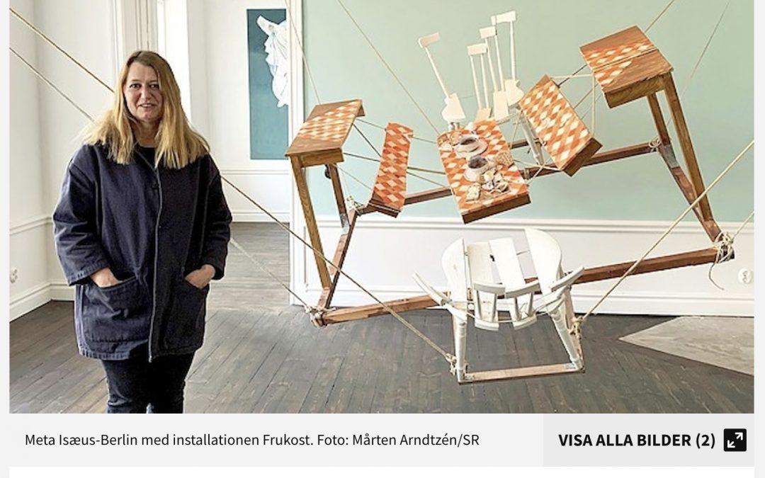 Kulturnytt P1: Meta Isæus-Berlins karantän födde nytt måleri